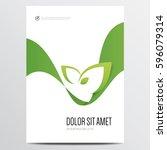 green brochure or annual report ... | Shutterstock .eps vector #596079314