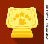golden prize with star  and...   Shutterstock .eps vector #596081486