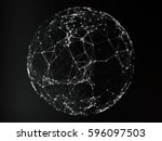 abstract sphere geometry orb... | Shutterstock . vector #596097503