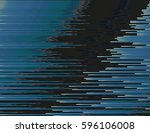 modern glitched background... | Shutterstock .eps vector #596106008
