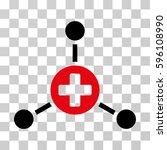medical center icon. vector... | Shutterstock .eps vector #596108990