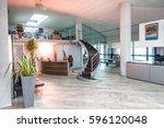 modern staircase in... | Shutterstock . vector #596120048