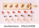 catering  banquet food concept. ... | Shutterstock . vector #596124308
