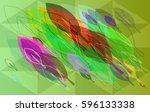foliage texture idea | Shutterstock .eps vector #596133338