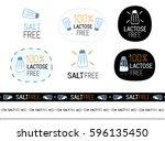 vector salt free sign set | Shutterstock .eps vector #596135450
