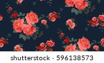 Stock vector seamless floral pattern in vector 596138573