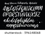 hand drawn typeface set.  | Shutterstock .eps vector #596148068
