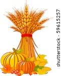 autumn,backgrounds,cartoon,clipart,color,copy,corn,festival,fruit,gourd,harvest,harvesting,holiday,illustration,image