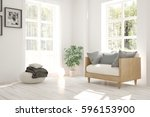 white room with armchair and... | Shutterstock . vector #596153900
