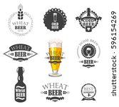 vector illustration with beer... | Shutterstock .eps vector #596154269
