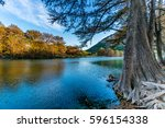 fall foliage on trees lining... | Shutterstock . vector #596154338