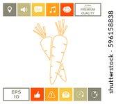 carrots line icon | Shutterstock .eps vector #596158838