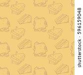 pattern sandwich graphic ...   Shutterstock .eps vector #596159048