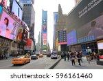 new york city usa   february 3  ... | Shutterstock . vector #596161460