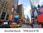 new york city usa   february 3  ... | Shutterstock . vector #596161478