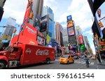 new york city usa   february 3  ... | Shutterstock . vector #596161544