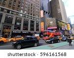 new york city usa   february 3  ... | Shutterstock . vector #596161568