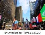 new york city usa   february 3  ... | Shutterstock . vector #596162120
