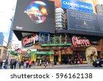 new york city usa   february 3  ... | Shutterstock . vector #596162138