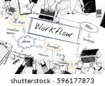 business workflow concept | Shutterstock . vector #596177873