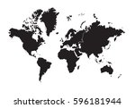 continents   map | Shutterstock .eps vector #596181944