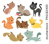 Stock vector cats character design 596182400
