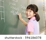 Asian elementary schoolgirl...