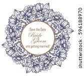 vintage delicate invitation... | Shutterstock .eps vector #596188970