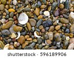 top view of background wet... | Shutterstock . vector #596189906
