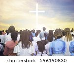 blurred christian | Shutterstock . vector #596190830