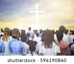 blurred christian | Shutterstock . vector #596190860