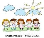 vector happy  kids.   Shutterstock .eps vector #59619223