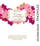 romantic invitation. wedding ... | Shutterstock . vector #596194133