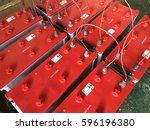 battery powered. industrial... | Shutterstock . vector #596196380