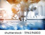 laboratory microscope.... | Shutterstock . vector #596196803