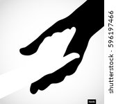 black color big hand and white...   Shutterstock .eps vector #596197466