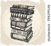 Stack Of Books Isolated On...