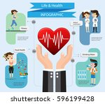 health insurance service.care... | Shutterstock .eps vector #596199428