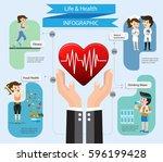 health insurance service.care... | Shutterstock .eps vector #596199428