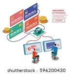 global trade | Shutterstock .eps vector #596200430