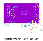 creative logo for the corporate ... | Shutterstock .eps vector #596206289