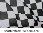 close up of racing flag ... | Shutterstock . vector #596208578