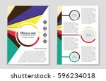 abstract vector layout... | Shutterstock .eps vector #596234018