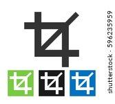 crop vector icon. | Shutterstock .eps vector #596235959