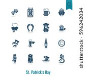 saint patricks day isolated... | Shutterstock .eps vector #596242034