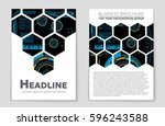 abstract vector layout...   Shutterstock .eps vector #596243588