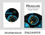 abstract vector layout... | Shutterstock .eps vector #596244959
