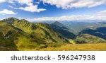 panorama of carpathian... | Shutterstock . vector #596247938
