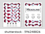 abstract vector layout... | Shutterstock .eps vector #596248826
