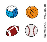 color diferents plays balls icon | Shutterstock .eps vector #596250218